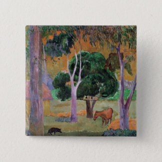 Dominican Landscape or Landscape with a Pig 15 Cm Square Badge