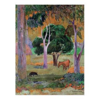 Dominican Landscape or Landscape with a Pig Postcard
