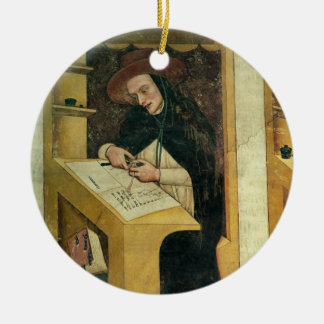 Dominican Monk at his Desk, from the Cycle of 'For Round Ceramic Decoration