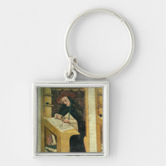 Dominican Monk at his Desk, from the Cycle of 'For Silver-Colored Square Key Ring