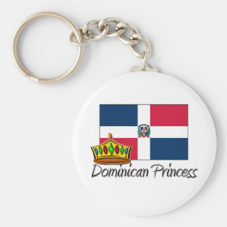 Dominican Princess Basic Round Button Key Ring