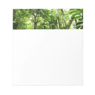 Dominican Rain Forest I Tropical Green Nature Notepad