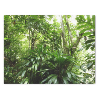 Dominican Rain Forest I Tropical Green Nature Tissue Paper