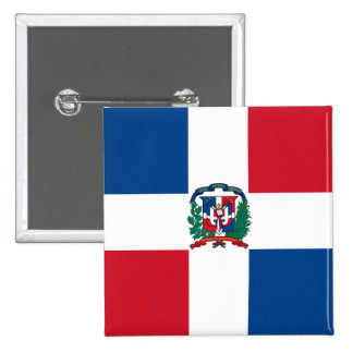 dominican republic 15 cm square badge