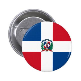 dominican republic 6 cm round badge