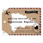 Dominican Republic Airmail Luggage Tag Save Date Personalised Announcement