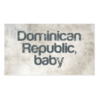 Dominican Republic Baby Pack Of Standard Business Cards