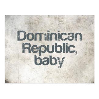 Dominican Republic Baby Postcard