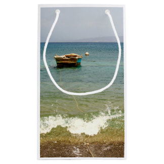 Dominican Republic Beach, Boat and Mountains Small Gift Bag