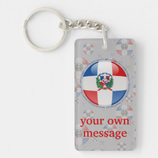 Dominican Republic Bubble Flag Key Ring