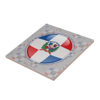 Dominican Republic Bubble Flag Tile