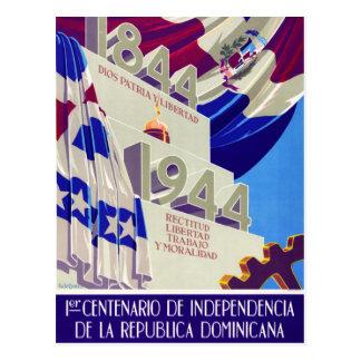 Dominican Republic Centennial Vintage Poster Postcard