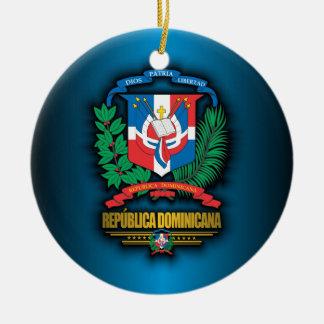 Dominican Republic COA Round Ceramic Decoration
