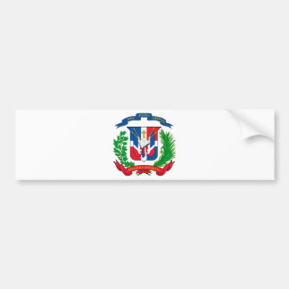 Dominican Republic Coat of Arms Bumper Sticker