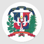 Dominican Republic Coat of arms  DO Round Sticker