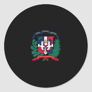 Dominican Republic Coat of Arms Round Sticker