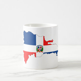 dominican republic country flag map shape symbol coffee mug