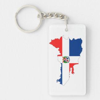 dominican republic country flag map shape symbol Single-Sided rectangular acrylic key ring