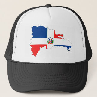 dominican republic country flag map shape symbol trucker hat