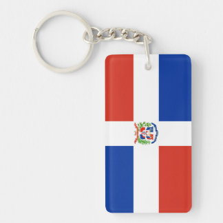 dominican republic country flag nation symbol long Single-Sided rectangular acrylic key ring