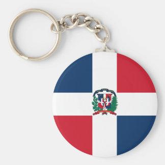 Dominican Republic, Denmark Basic Round Button Key Ring
