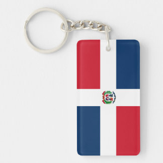 Dominican Republic Double-Sided Rectangular Acrylic Key Ring