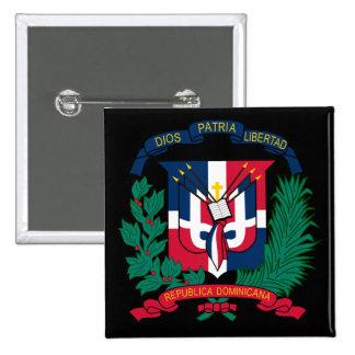 dominican republic emblem 15 cm square badge