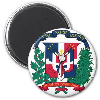 dominican republic emblem 6 cm round magnet