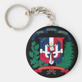dominican republic emblem basic round button key ring