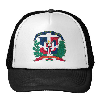 dominican republic emblem trucker hat