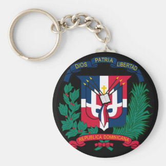 dominican republic emblem key ring