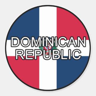 Dominican Republic Euro Sticker