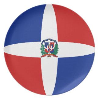 Dominican Republic Fisheye Flag Plate