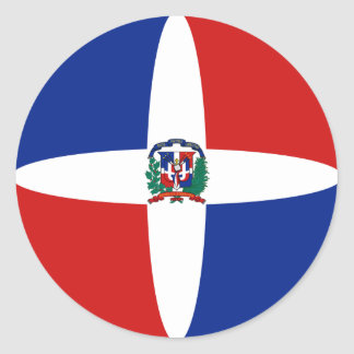 Dominican Republic Fisheye Flag Sticker