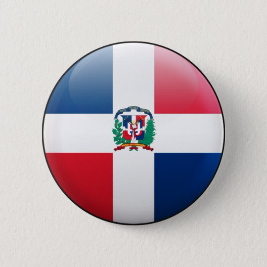 Dominican Republic Flag 6 Cm Round Badge
