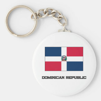 Dominican Republic Flag Basic Round Button Key Ring