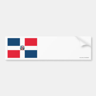 Dominican Republic Flag Bumper Sticker