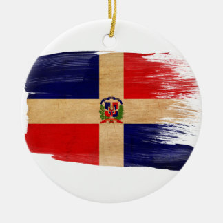 Dominican Republic Flag Christmas Ornament