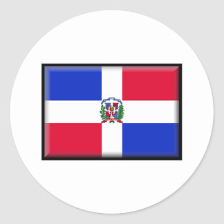 Dominican Republic Flag Classic Round Sticker