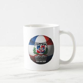 Dominican Republic Flag Covered Baseball Basic White Mug