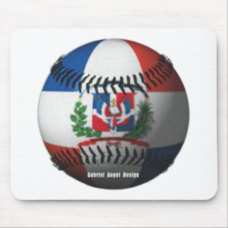 Dominican Republic Flag Covered Baseball Mouse Pads