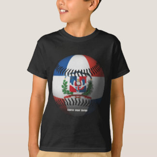 Dominican Republic Flag Covered Baseball T-shirts