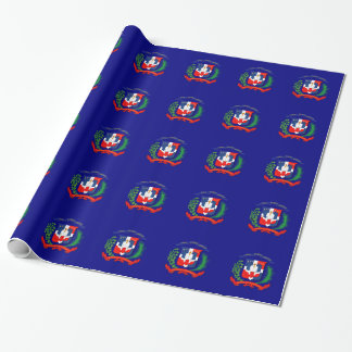 Dominican Republic flag crest Wrapping Paper