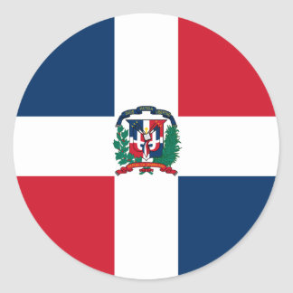 Dominican Republic Flag DO Classic Round Sticker