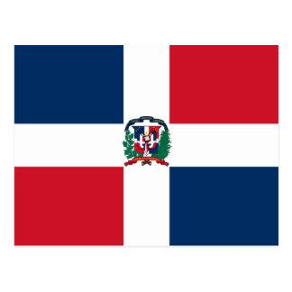 Dominican Republic Flag DO Postcard