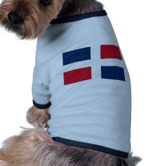 Dominican Republic flag Doggie Tee Shirt