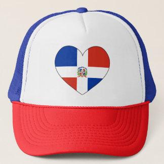 Dominican Republic Flag Heart Trucker Hat