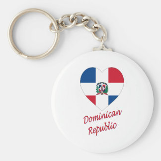 Dominican Republic Flag Heart with Name Key Ring