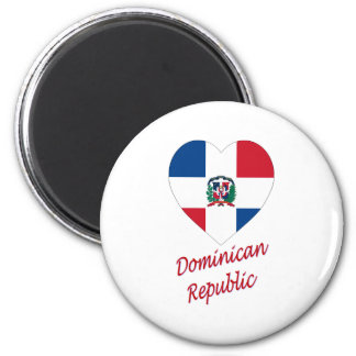 Dominican Republic Flag Heart with Name Magnet