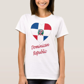 Dominican Republic Flag Heart with Name T-Shirt